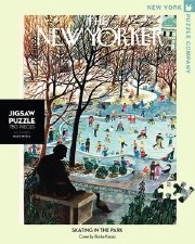 """New York Puzzle Co. The New Yorker """"Skating in the Park"""""""