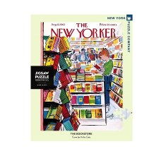 """New York Puzzle Co. The New Yorker """"The Bookstore"""""""