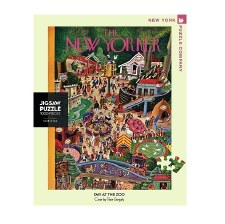 """New York Puzzle Co. The New Yorker """"Day at the Zoo"""""""