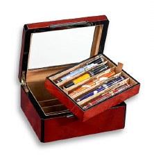 Venlo Company 10 Pen Box in Burlwood