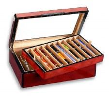 Venlo Company 20 Pen Box in Burlwood