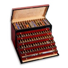 Venlo Company 100 Pen Box in Burlwood