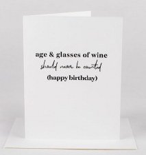 Wrinkle and Crease Age And Wine Card