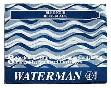 Waterman Ink Cartridges for Fountain Pens (8 per Package)