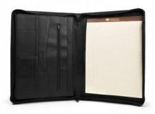 Bosca Leather Zip Writing Portfolio