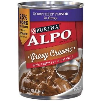 ALPO Gravy Cravers Roast Beef Flavor in Gravy Canned Dog Food 13.2oz