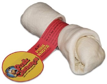 Premium Pork Chomps 6-7 Inch Baked Pork Skin Knot Bone