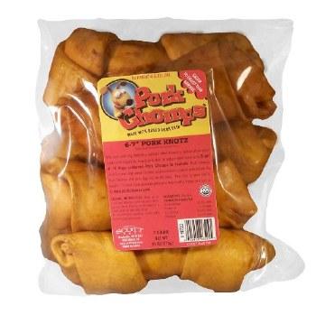 Premium Pork Chomps 6-7 Inch Roasted Knot Bone 6 Count