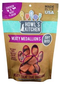 Howl's Kitchen Meaty Medallions Chicken & Beef Flavor Dog Treats 12oz