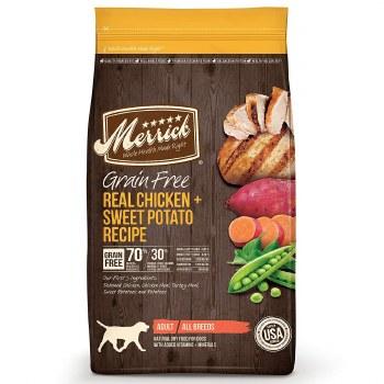 Merrick Grain Free Real Chicken and Sweet Potato Recipe Dry Dog Food 25lb