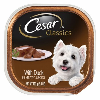 Cesar Classics Pate with Duck Dog Food Trays 3.5oz