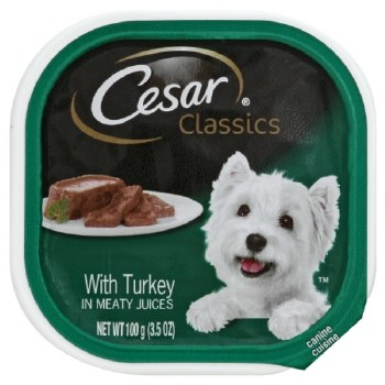 Cesar Classics Pate with Turkey Dog Food Trays 3.5oz