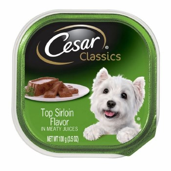 Cesar Classics Pate Top Sirloin Flavor Dog Food Trays 3.5oz