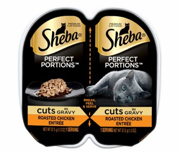 Sheba Perfect Portions Cuts in Natural Juices Savory Chicken in Gravy Grain Free Wet Cat Food Twin Pack 2.65oz