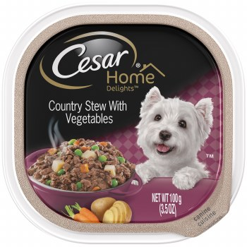 Cesar Home Delights Country Stew with Vegetables Dog Food Trays 3.5oz
