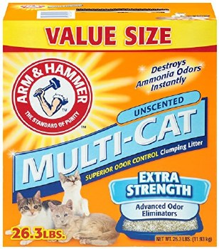 Arm & Hammer Multi Cat Unscented  Extra Strength Clumping Litter 26lb
