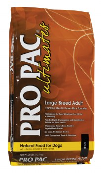 Pro Pac Ultimates Chicken Meal and Brown Rice Large Breed Adult Dry Dog Food 28lb
