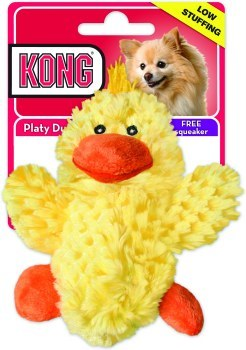 KONG Plush Duck Dog Toy Extra Small
