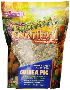 Browns Tropical Carnival Guines Pig Food And Treat All In One 3lb