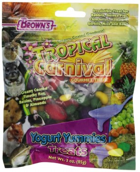 Brown's Tropical Carnival Yogurt Yummies Small Animal Treats 3oz