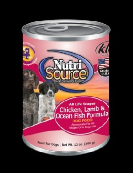 Nutrisource All Life Stages Chicken, Lamb and Ocean Fish Formula Canned Dog Food 13oz