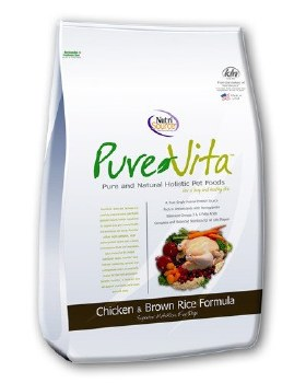 Pure Vita Chicken and Brown Rice Dry Dog Food 25lb