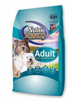 Nutrisource Adult Chicken and Rice Formula Dry Dog Food 15lb