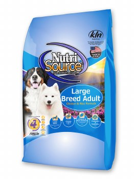 Nutrisource Large Breed Adult Chicken and Rice Formula Dry Dog Food 30lb