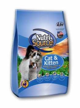 Nutrisource Chicken Meal, Salmon and Liver Formula Cat and Kitten Dry Food 15lb