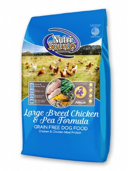 Nutrisource Grain Free Large Breed Chicken and Pea Dry Dog Food 30lb