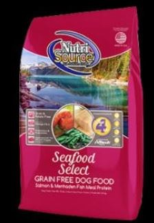 Nutrisource Grain Free Seafood Select With Salmon and Menhaden Fish Meal Protein Dry Dog Food 15lb