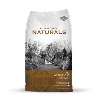 Diamond Naturals Active Chicken Meal and Rice Formula Dry Cat Food 18lb
