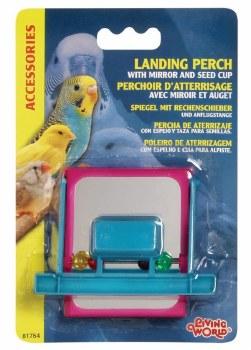 Landing Perch Feeder With Mirror