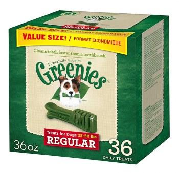 Greenies Reg Box 36oz 36ct