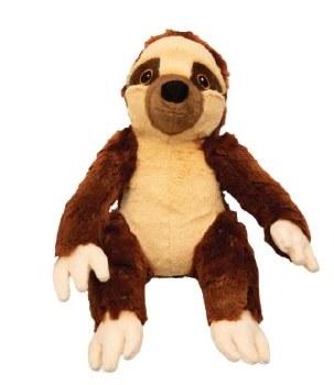 Snugz Sasha The Brown Sloth Plush Dog Toy