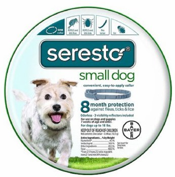 Bayer Seresto Flea And Tick Collar 8 Months Protection For Small Dogs Upto 18 lbs