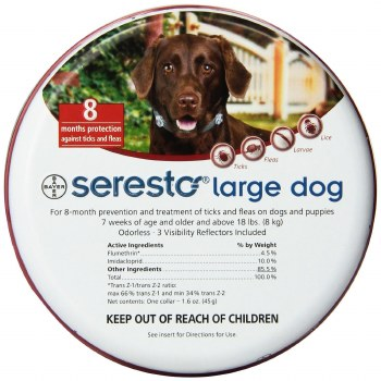 Bayer Seresto Flea And Tick Collar 8 Months Protection For Large Dogs Over 18 lbs