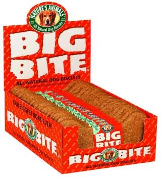 Natures Animals Big Bite Peanut Butter Dog Biscuit Single 8 Inch