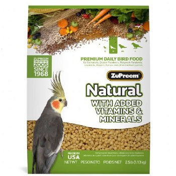 ZuPreem Natural with Vitamins Minerals & Amino Acids Medium Bird Food 2.5lb bag
