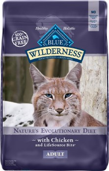 Blue Buffalo Wilderness Chicken Recipe Grain Free Dry Cat Food 12lb
