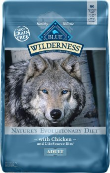Blue Buffalo Wilderness Chicken Recipe Grain Free Dry Dog Food 24lb