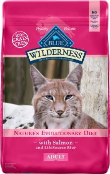 Blue Buffalo Wilderness Salmon Recipe Grain Free Adult Dry Cat Food 11lb