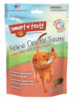 Smart N' Tasty Grain Free Salmon Dental treat 3oz