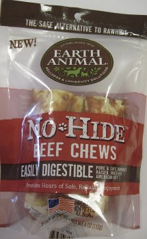 Earth Animal 4 Inch 2 Pack Beef Chews