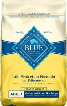 Blue Buffalo Life Protection Formula Healthy Weight Adult Chicken and Brown Rice Recipe Dry Dog Food 30lb