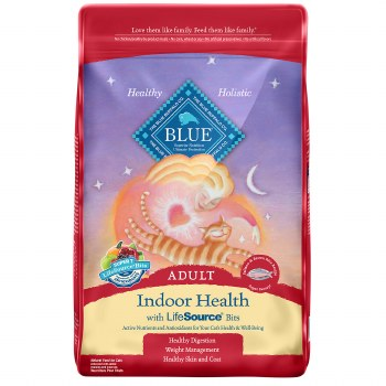 Blue Buffalo Indoor Health Salmon and Brown Rice Recipe Adult Dry Cat Food 15lb