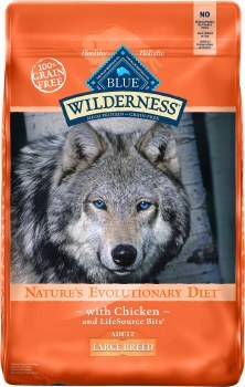 Blue Buffalo Wilderness Large Breed Chicken Recipe Grain Free Dry Dog Food 24lb