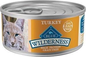 Blue Buffalo Wilderness Turkey Recipe Grain Free Canned Cat Food Case of 24 5.5oz