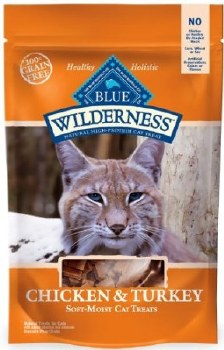 Blue Buffalo Wilderness Chicken & Turkey Grain-Free Cat Treats, 2-oz bag