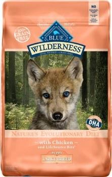 Blue Buffalo Wilderness Large Breed Puppy Chicken Recipe Grain Free Dry Dog Food 24lb